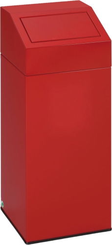 push waste separator, 47 l, red